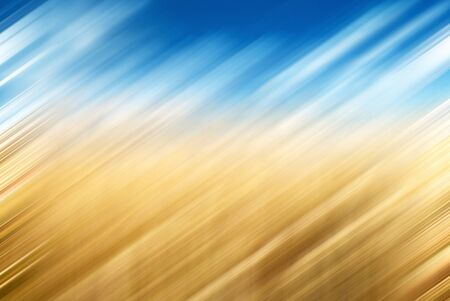 Summer holiday concept: Abstract blurred blue, yellow background