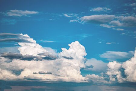 blue sky with white clouds beautiful landscape