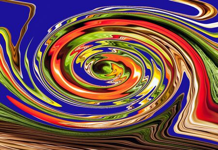 abstract multicolored spiral for backgrounds and wallpapers on a black fot 版權商用圖片