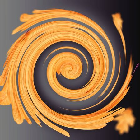 Abstract orange spiral for backgrounds and wallpapers.