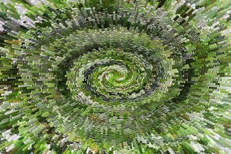 Abstract green spiral background for wallpapers and textures top view
