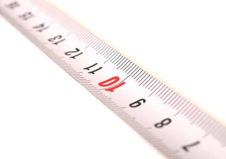 fragment of measuring tape on a white background