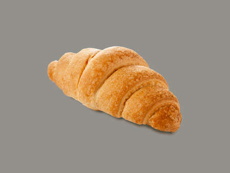 croissant with chocolate on a gray background 版權商用圖片