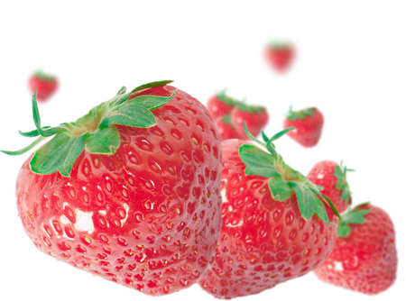 Strawberries on a white background. Berries and fruits concept. 版權商用圖片