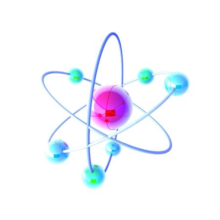 3d Molecule on white background