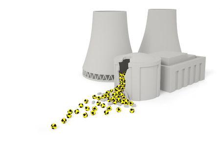 isotopes: Radioactive elements drop out of the destroyed nuclear reactor