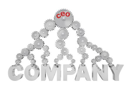 jerarquia: La gran rueda dentada con un CEO inscripción