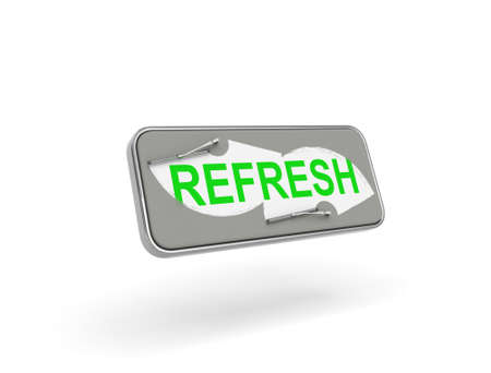 refresh button: Creative refresh button isolated on white background