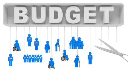 family budget: Cuts in social services (cost saving) as a result of economic crisis and slowdown in economy