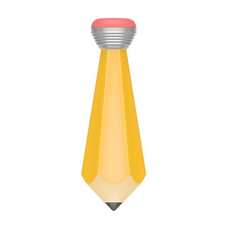 creador: L�piz de color amarillo en forma de lazo como s�mbolo de la artista, dise�ador, creador, jefe, blogger o creaci�n, dibujo, blogs, periodismo, la ingenier�a o la ilustraci�n para la camiseta de imprenta