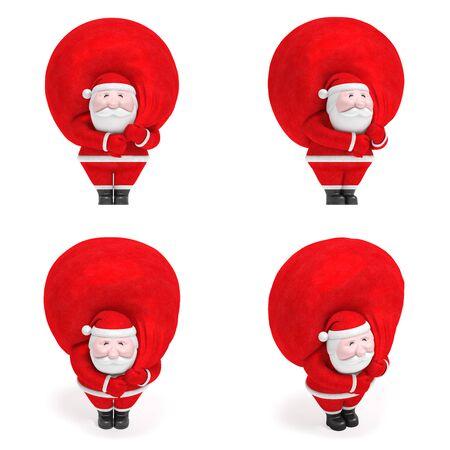抽象的な面白いクリスマスまたは新年とデザイン (創造的なマーカーのセット) の装飾要素のシンボルとしてマップ ポインターとして贈り物に大きな