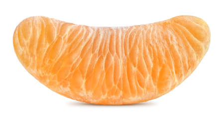 Orange slice segment or chunk of tangerine.