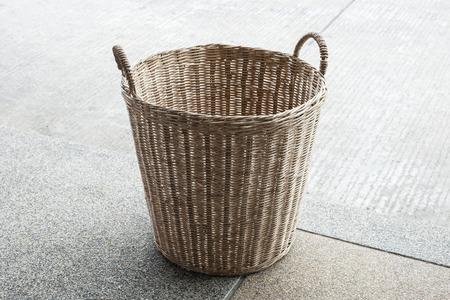 Basket wicker is Thai handmade Imagens