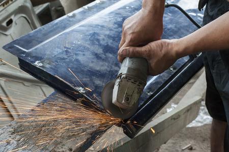 repaint: Car paint repair series Stock Photo