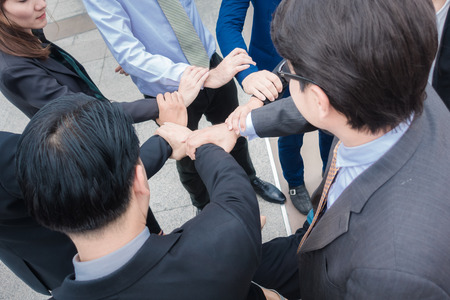 Group business make hands were a collaboration concept of teamwork