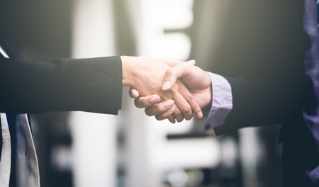 handshake of business People Colleagues Teamwork Meeting .Hold hand and shake hand.