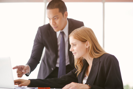 Business people meeting working in modern office