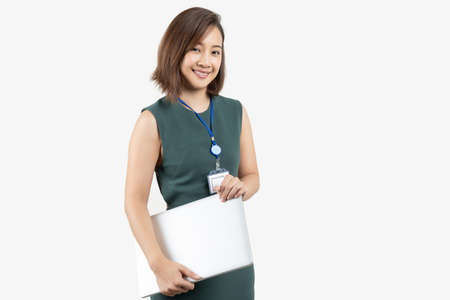 Portrait of young Asian business woman on white isolate background Reklamní fotografie