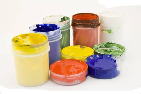 daubs: paints isolated Stock Photo