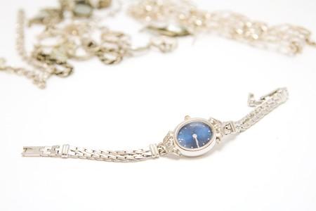 wristwatch and jewelery Stock Photo - 4448627