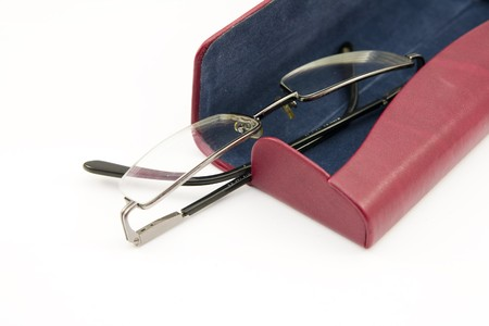 glasses and case isolated Stock Photo - 4448656