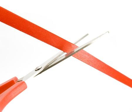 taglio del nastro: il taglio del nastro con le forbici