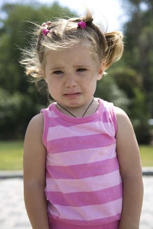 little girl crying photo