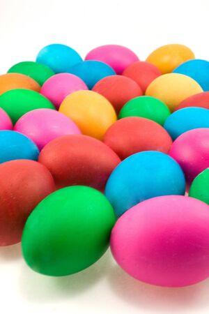 coloured easter eggs photo