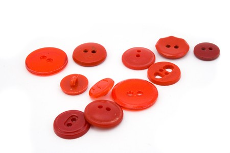 red buttons isolated on white photo