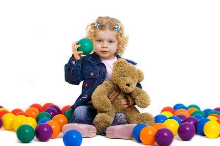 portrait of cute little girl photo