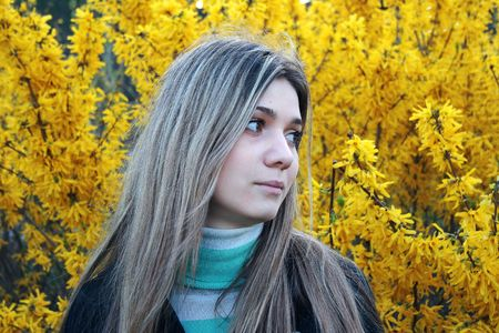 portrait of beautiful young girl photo