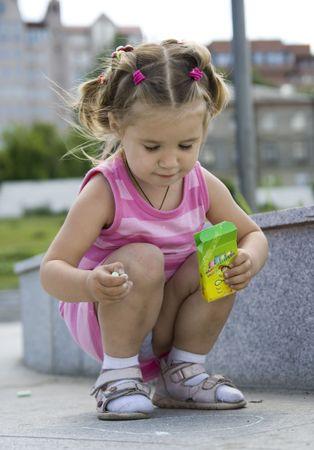portrait of little girl photo