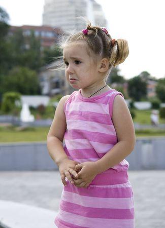 crying girl photo