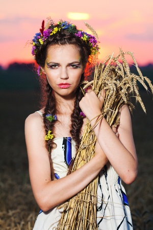 beautiful girl in summer Stock Photo - 9450991