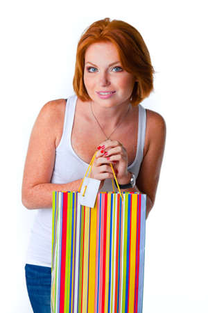 cute model in studio with red hair Stock Photo - 12610237