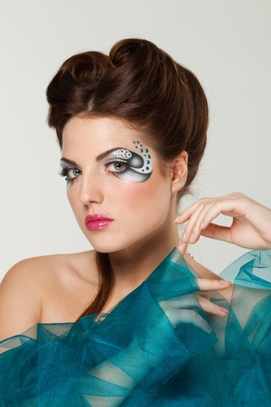 beautiful woman with creative makeup photo