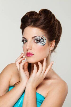 beautiful woman with creative makeup Stock Photo - 14415323