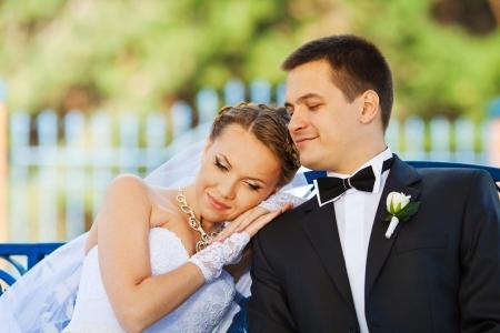 getting married: bride and groom in love