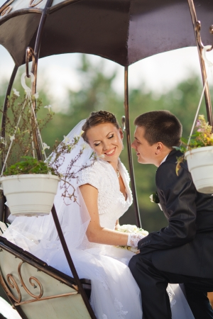 bride and groom in love photo