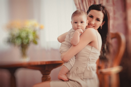 happy mother and her baby Stock Photo - 17412506