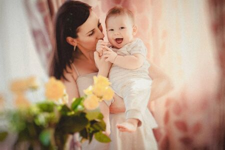 happy mother and her baby Stock Photo - 17412501