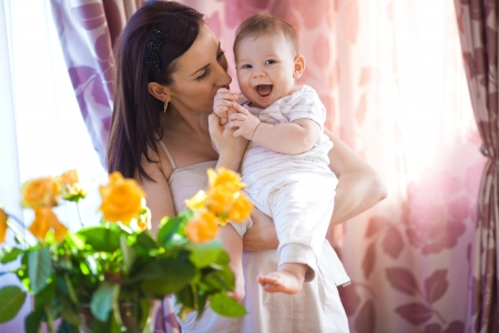 happy mother and her baby Stock Photo - 17412525