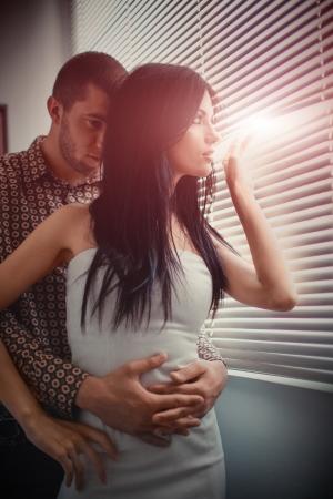 parejas sensuales: Disparo de un par de amor apasionado Foto de archivo