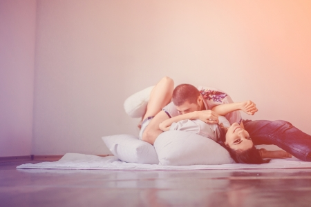 tender passion: Shot of a passionate loving couple Stock Photo