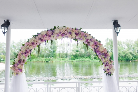 Floral wedding arch photo