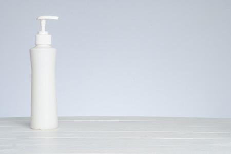 PUMPER: Pumper dispenser of shampoo ,soap baht isolated on white Stock Photo