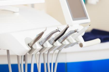Closeup of a modern dentist tools, burnishers