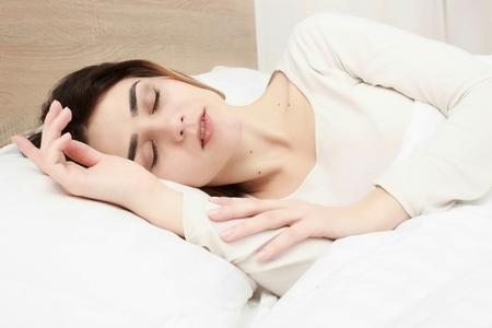 slumber: Portrait of a young girl sleeping