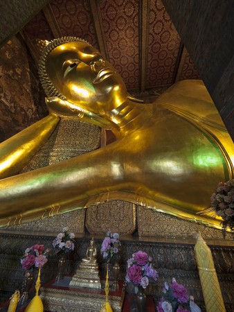 budha in thai temple Stock Photo