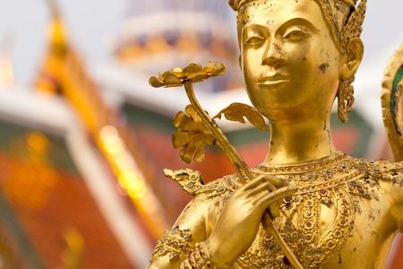 golden statue in Grand Palace Bangkok Thailand